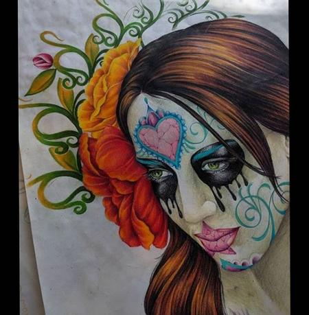 Tattoos - Bonnie Seeley Prismacolor Girl - 140247