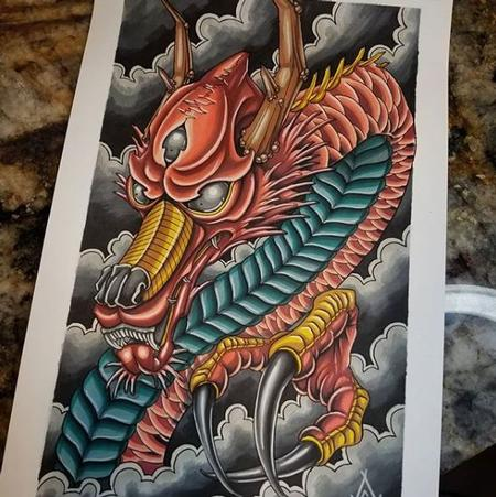 Tattoos - Cody Cook Dragon Marker Sheet - 140241