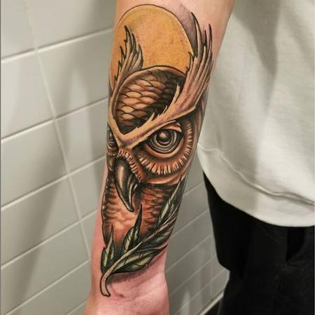 Tattoos - Cody Cook Owl II - 140878