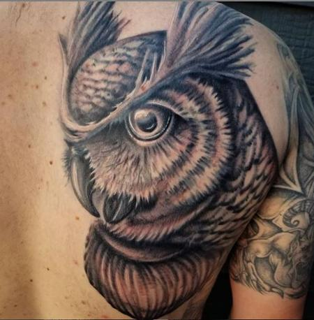 Tattoos - Cody Cook Owl - 139531