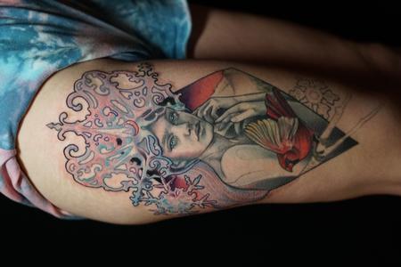 Tattoos - Miss Amanda Winter Queen Portrait - 142706