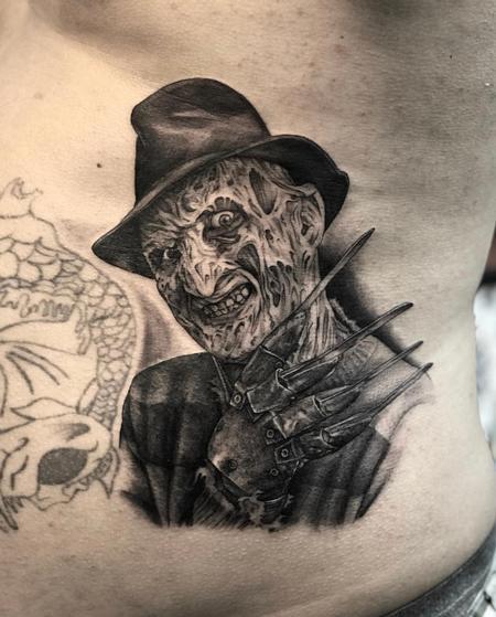 Tattoos - Freddy Krueger Black and Grey portrait - 137843
