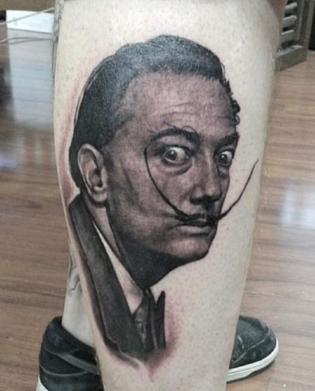Tattoos - Salvador Dali Portrait Tattoo - 137848