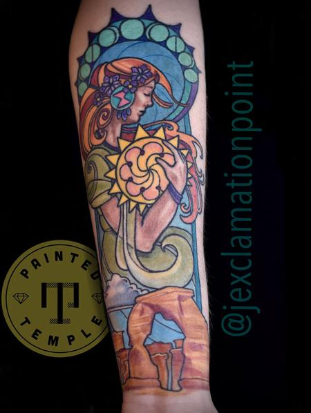 Tattoos - Jesse Carlton Illustrative Woman and Delicate Arch - 142125