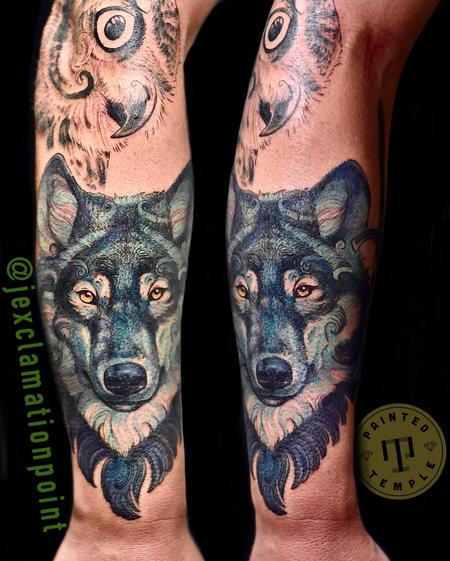 Tattoos - Jesse Carlton Wolf Portrait - 142126