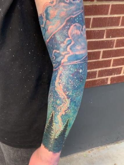 Tattoos - Jesse Carlton Space Sleeve - 140440