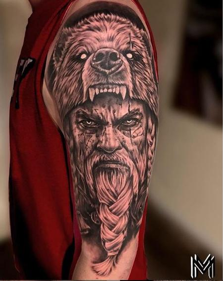 Tattoos - Matt Bear Warrior - 141701