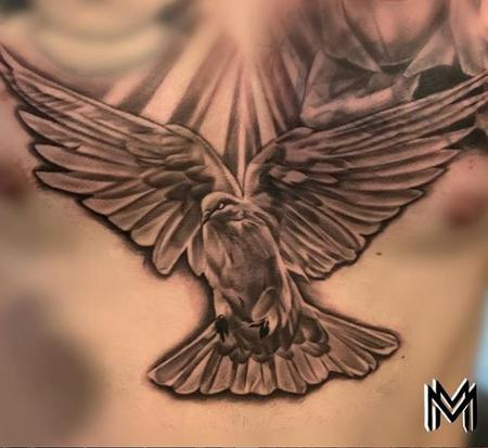 Tattoos - Matt Masculine Dove - 140432