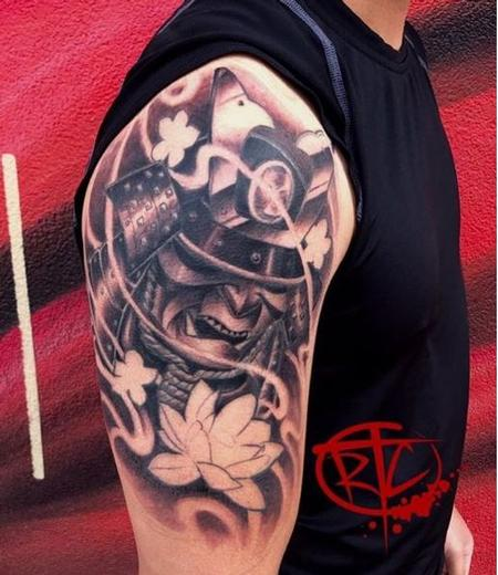 Tattoos - Ryan Cumberledge Samurai Mask - 140588