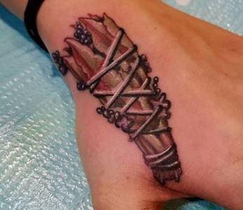 Tattoos - Sage Tattoo on hand - 137426