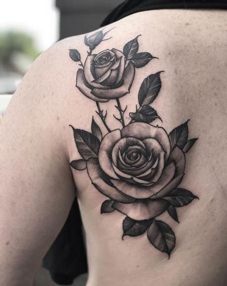 Tattoos - Shawn Monaco Roses - Black and Grey - 138988