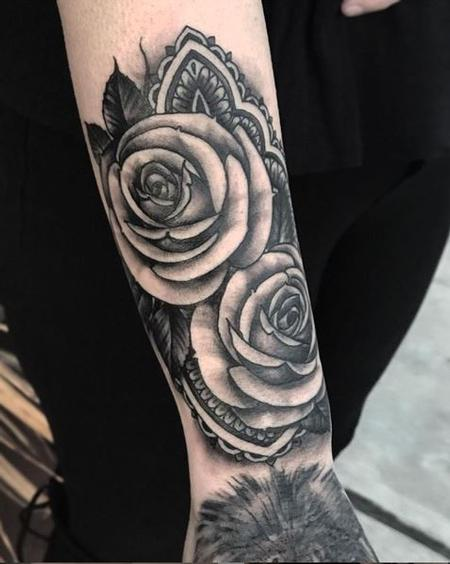 Shawn Monaco - Shawn Monico black and grey roses