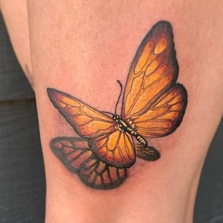 Tattoos - Tori Loke Monarch Butterfly - 140927