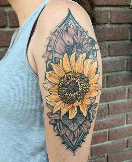 Tattoos - Tori Loke Sunflower - 140591