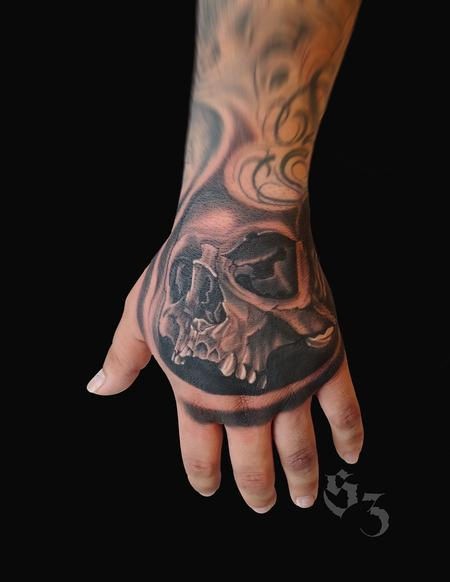 Tattoos - Quade Dahlstrom Skull - 142189