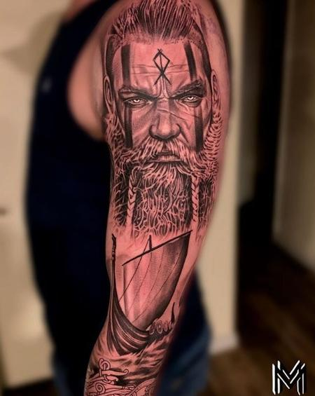 Matt Morrison - Matt Morrison Viking Portrait and Ship Sleeve