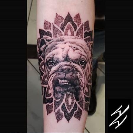 Tattoos - Walt Watts Dog Mandala - 139320