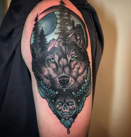Al Perez - Mountain Wolf Tattoo