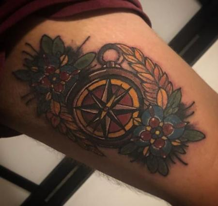 Al Perez - Compass Tattoo