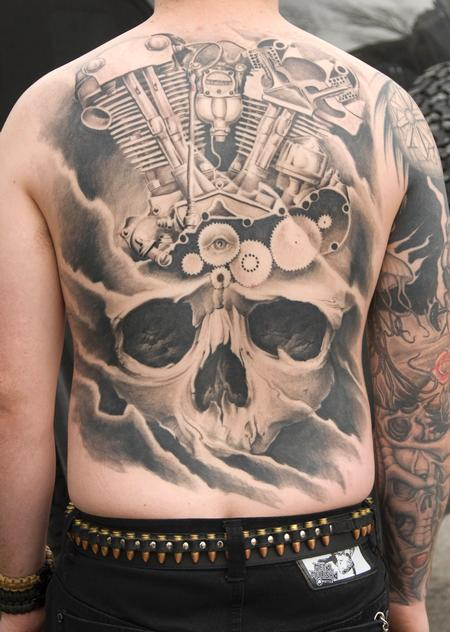 Tattoos - Alans Knucklehead Back Tattoo - 63587