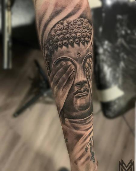 Tattoos - Buddha See No Evil - 138013