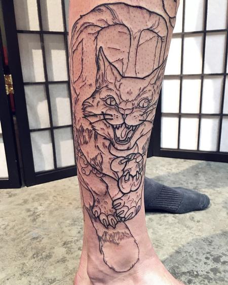 Tattoos - Cat Outline - 134540