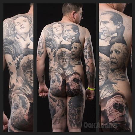 Oak Adams - Classic Horror Movie Portraits Bodysuit Tattoo