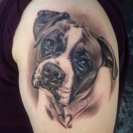 Tattoos - Dog Portrait Tattoo - 134552