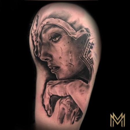 Matt Morrison - Female Warrior Tattoo