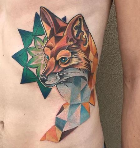 Tattoos - Tori Loke Geometric fox - 138807