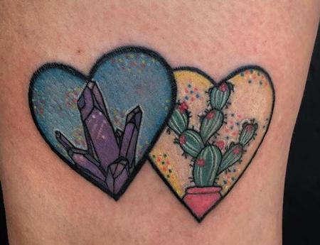 Megyn Olivia - Crystal Cactus, Sparkles and Hearts Tattoo