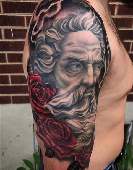 Tattoos - Roses and Portrait Tattoo - 136143