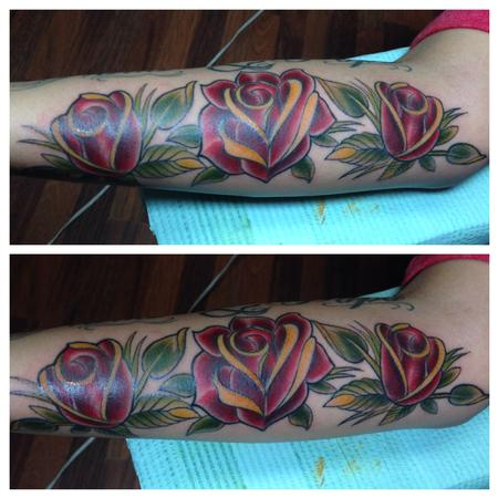 Tattoos - traditional roses - 93623