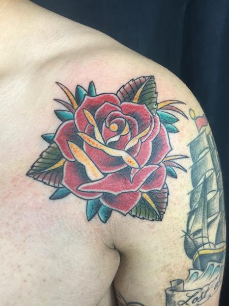 Tattoos - Rosey Shoulder - 104607