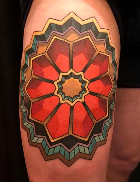 3D Geometric Design Tattoo Design
