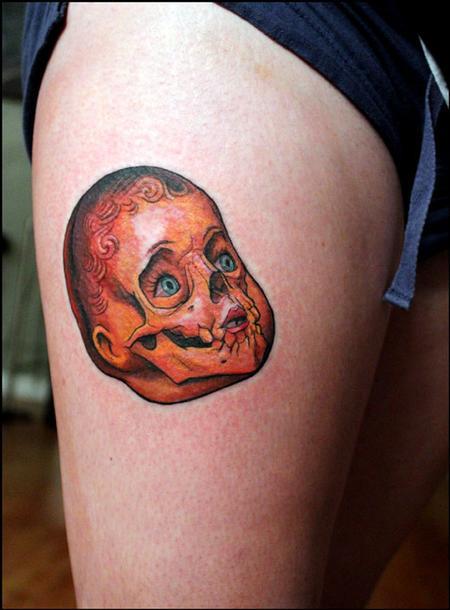 Tattoos - doll skull tattoo - 58613