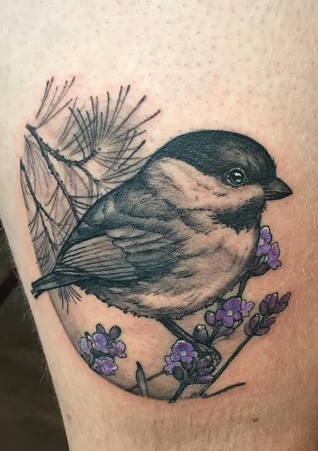 Chickadee Tattoo Design