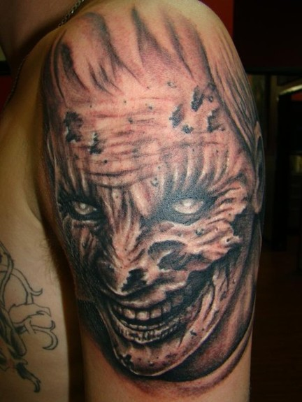 Zombie Face Tattoo Tattoo Design