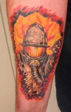 firefighter tattoo Tattoo Design