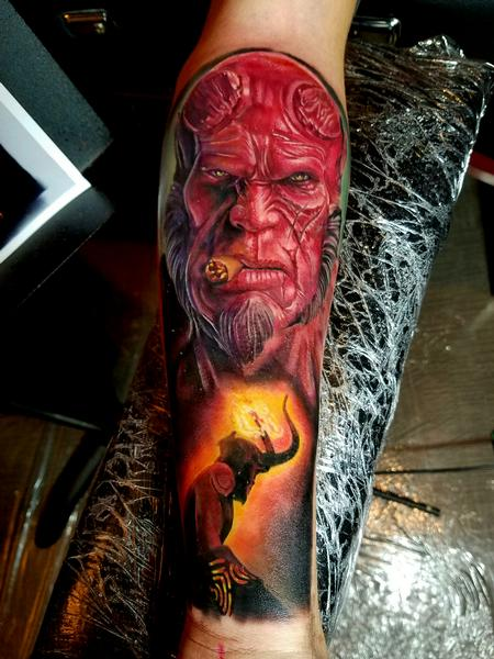 HellBoy Tattoo Design