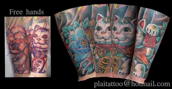 Freehand Kitty Tattoo Tattoo Design