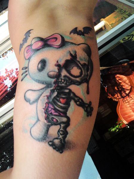 Hello Zombie Tattoo Design