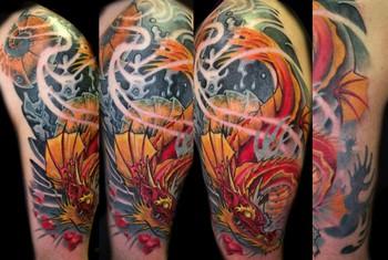 Tattoos - Koi dragon - 36336