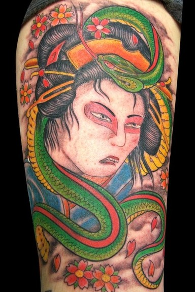 Asian snake tattoo Tattoo Design