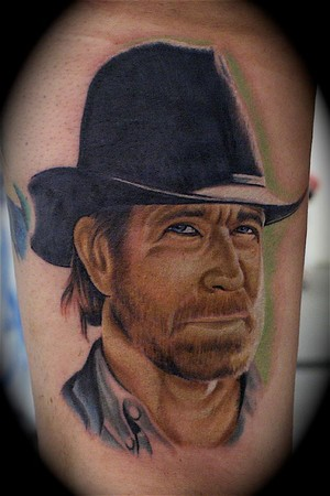 Chuck Norris Tattoo Design