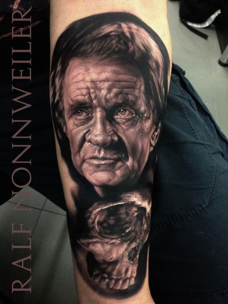 Tattoos - Johnny Cash Skull Tattoo - 115687