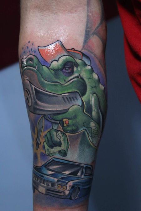 Crocodile  Tattoo Design
