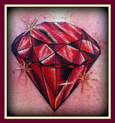 Red diamond Tattoo Design