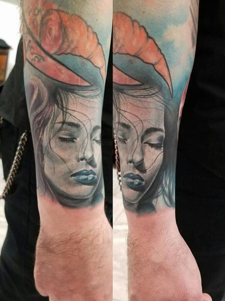 Blue Tattoo Design