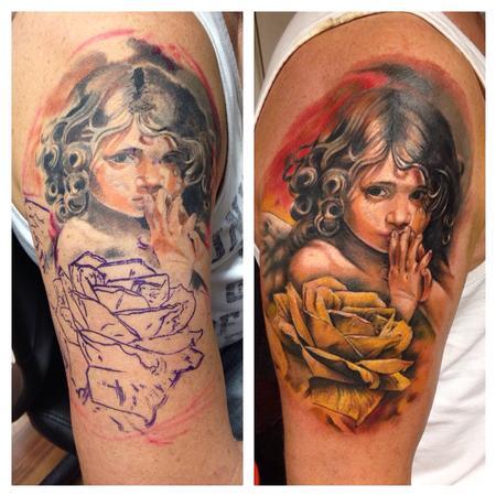 Little Angel fix up Tattoo Design